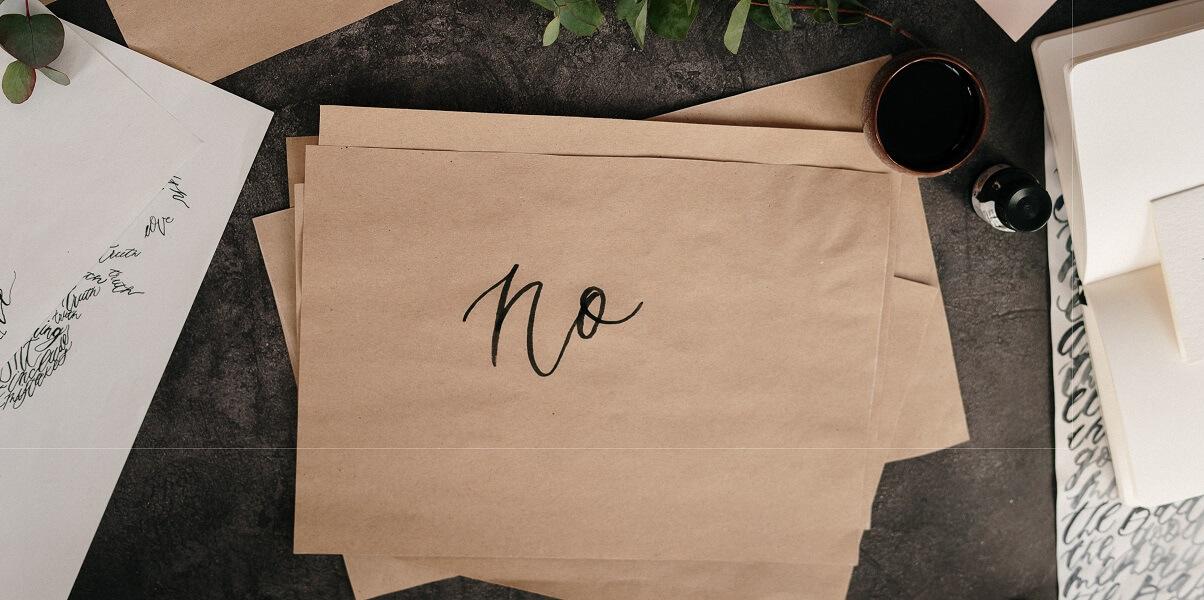 Tu știi când să spui NU?